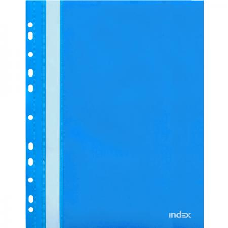 Папка-скоросшиватель с европланкой, А4, синяя 319/04/R папка proff а4 60 карманов синяя