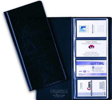 Визитница Durable на 96 визиток черный