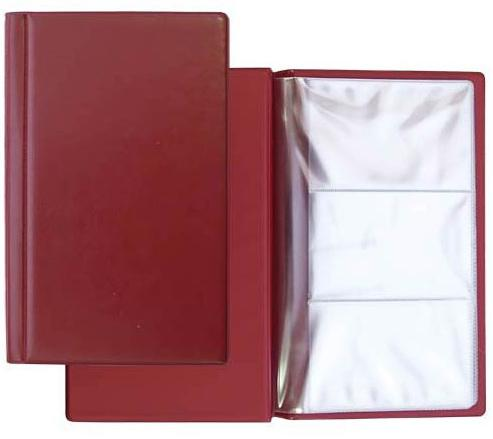 Визитница Panta Plast 03-0220-2/Борд 60 шт бордовый недорого