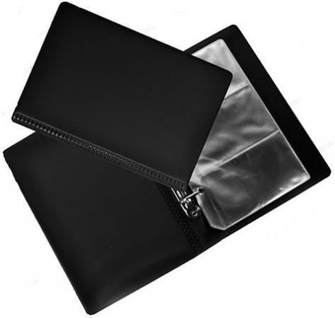 Визитница Panta Plast 03-3042-2/Черн 120 шт черный визитница panta plast 03 0220 2 черн 60 шт черный