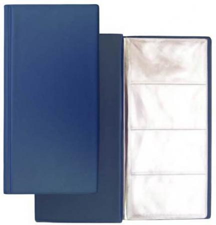 Визитница на 96 визиток, разм.12х24,5 см, темно-синяя, PVC 03-1160-2/ТС eleganzza темно синяя визитница с логотипом