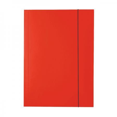 Папка на резинках ESSELTE, ф.А4, лакированный картон (400г/м2), красная 13436