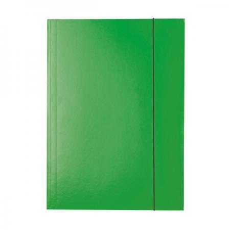 Папка на резинках ESSELTE, ф.А4, лакированный картон (400г/м2), зеленая 13437 папка esselte на 4х кольцах