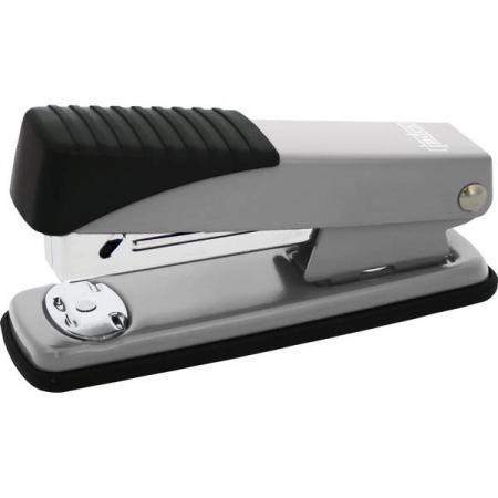 лучшая цена Степлер, скоба №24/6, на 15 листов, металлический корпус, серебристый IMS300/SM