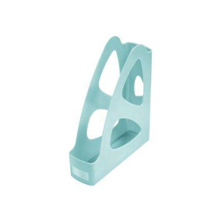 Лоток для бумаг ПАРУС, вертикальный, тонированный голубой, 8 см. ЛТ136 лоток для бумаг remember hexagon 25 5 31 5 6 3 см