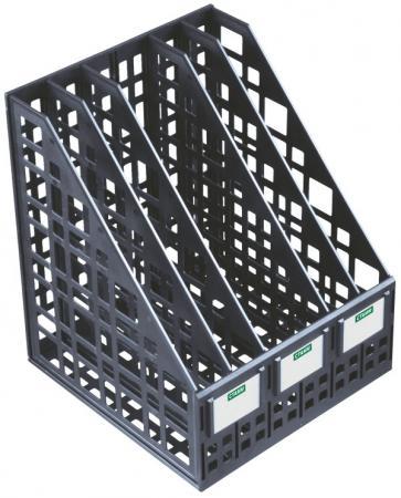 Лоток для бумаг, вертикальный, сборный, 5 отделений, черный ЛТ85 лоток для бумаг remember hexagon 25 5 31 5 6 3 см