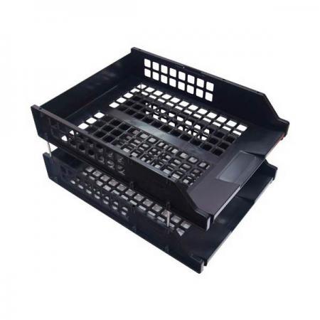 Набор из 2-х лотков, горизонтальных на металлических стержнях, черный ЛТ102 стамм лт102