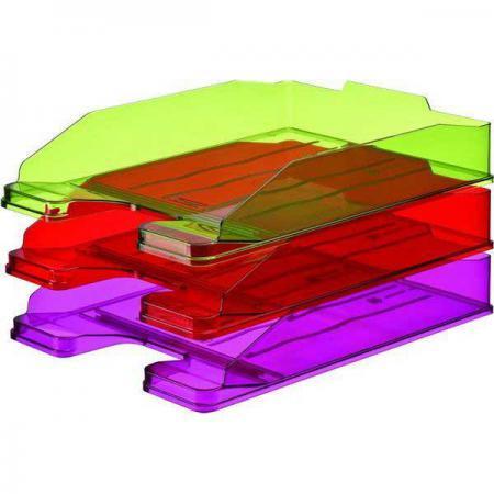 Лоток для бумаг ЭКСПЕРТ, горизонтальный, тонированный /Вишня/ ЛТ207 attache лоток для бумаг яркий офис вишня