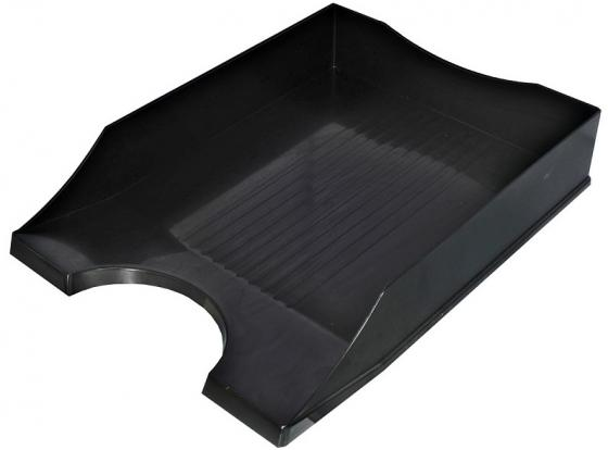 Лоток для бумаг СТАНДАРТ, горизонтальный, черный лоток для бумаг sponsor вертикально горизонтальный семисекционный черный st905 7