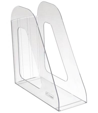 Лоток для бумаг ФАВОРИТ, вертикальный , прозрачный ЛТ701