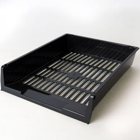 Лоток для бумаг горизонтальный ЛИДЕР, чёрный IT805Bk цена