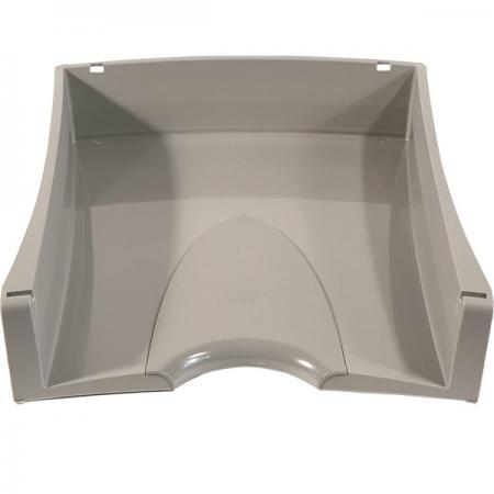 Лоток для бумаг горизонтальный LUX, серый IT808Gy цена