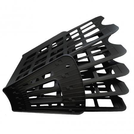Лоток для бумаг SPONSOR, вертикально-горизонтальный, пятисекционный, черный ST905-5 лоток для бумаг remember hexagon 25 5 31 5 6 3 см