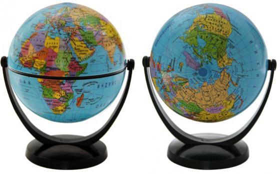 Глобус политический, 10.6 см, с экваториальным креплением, в блистерной упаковке RG106/POL/EF глобус политический rotondo диаметр 20 см