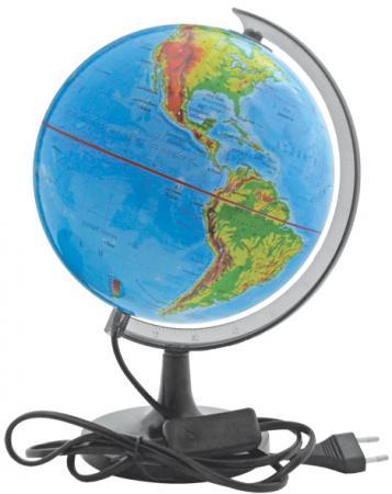 Глобус c двойной картой, политической и физической, с подсветкой, 20см RG20/DB/L