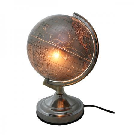Глобус c двойной картой, политической/карта созвездий, с подсветкой, 20см, серебристый RG20/DB/L/C