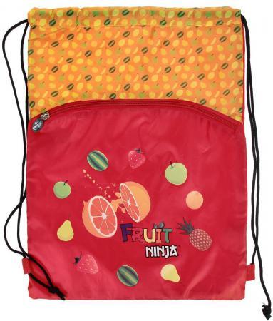 Мешок для обуви FRUIT NINJA, разм. 43х32 см, с доп. карманом на молнии, оранжевый FN-ASS4306/2 цена