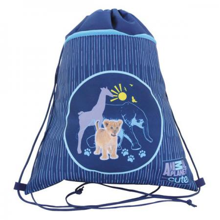 Мешок для обуви ANIMAL PLANET too cute, с доп. карманом на молнии, размер 38 х 33см, синий AP-ASS4305/5/15