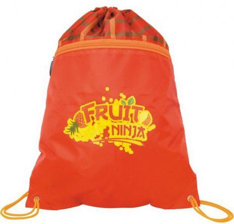 Мешок ддя обуви FRUIT NINJA, разм. 43х32 см, с карманом на молнии,красно- оранжевый, для девочек FN-ASS4305/5 пенал на одно отделение action fruit ninja fn apc0107 6 fn apc0107 6