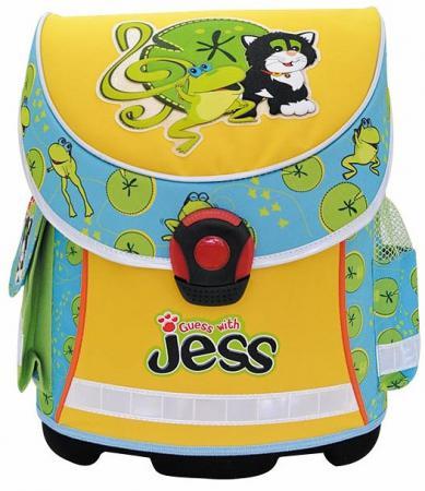 Ранец с анатомической спинкой Action! GUESS with JESS голубой желтый GJ-ASB4003/1 GJ-ASB4003/1 ежедневник gj b5