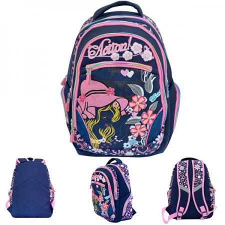 Рюкзак с уплотненной спинкой Action! AB11078 синий action action рюкзак из россии с любовью синий