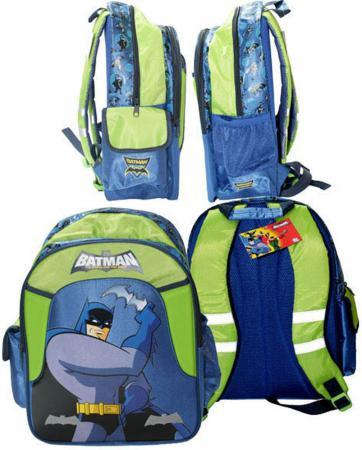 Школьный рюкзак с рельефной спинкой Action! Бэтмен:отважный и смелый. синий зеленый BA-ASB5001/2