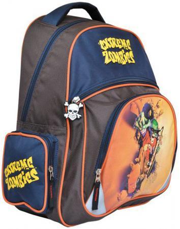 Школьный рюкзак с уплотненной спинкой Action! EXTREME ZOMBIES коричневый синий  EZ-AB11071/1 мягкие игрушки plants vs zombies котенок 15 см