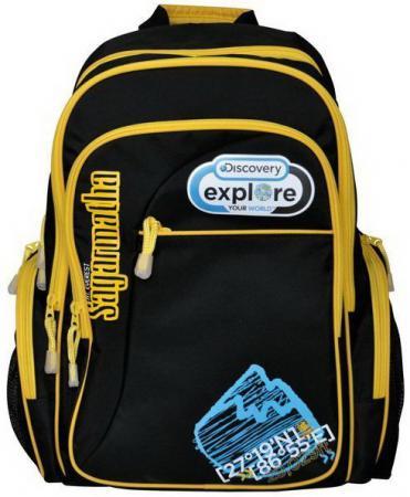 Рюкзак с уплотненной спинкой Action! DISCOVERY черный желтый DV-AB11055/2/14 DV-AB11055/2/14 рюкзак с уплотненной спинкой action discovery черный желтый dv ab11055 2 14 dv ab11055 2 14