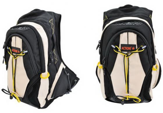 Рюкзак с анатомической спинкой Action! AES1003/BG бежевый черный рюкзак с анатомической спинкой caribee spice 24 л сиреневый 62291