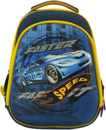 Рюкзак с анатомической спинкой Action! AB11092/1 синий желтый AB11092/1 action action рюкзак из россии с любовью синий