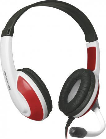 Наушники Defender Warhead G-120 бело-красный 64098 наушники с микрофоном defender warhead g 200