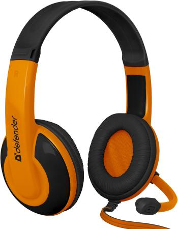 Наушники Defender Warhead G-120 черно-оранжевый 64099 игровые наушники defender warhead g 280 64125