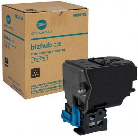 Картридж Konica Minolta TNP-27K для bizhub C25 черный 6000стр картридж для принтера yes dr311k dr311c konica minolta bizhub c220 c280 c360 4 lot