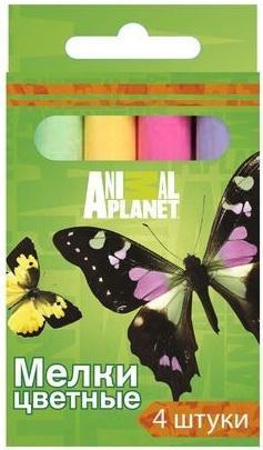 Мелки школьные Action ANIMAL PLANET 4 штуки 4 цвета от 3 лет AP-CC-4