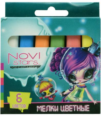 Мелки школьные Action! NOVI STARS 6 штук 6 цветов от 6 лет NS-CC-6