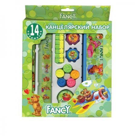 Набор канцелярский FANCY,14 предметов, в карт.упаковке, ассорти 4 цвета FSS102/14/1 канцелярский набор карамба 005070 8 предметов