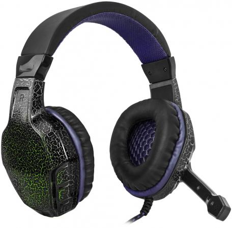 Наушники Defender Warhead G-400 черно-фиолетовый 64145 игровые наушники defender warhead g 280 64125