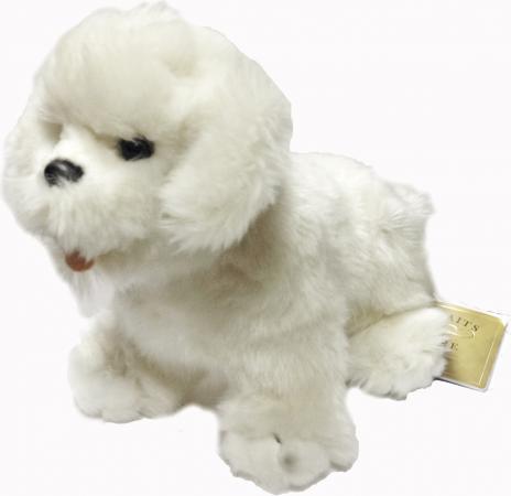 Мягкая игрушка собака Hansa Собака породы Бишон Фризе 30 см белый искусственный мех 6317 мягкие игрушки hansa собака породы бишон фризе 30 см
