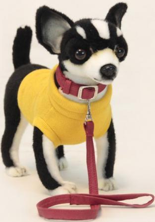 Мягкая игрушка собака Hansa Чихуахуа черная 27 см черный искусственный мех синтепон 6384 мягкая игрушка утенок hansa утенок 20 см желтый искусственный мех синтепон 4857