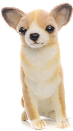 Мягкая игрушка собака Hansa Собака породы Чихуахуа 31 см коричневый белый искусственный мех синтепон 6501 носки детские гранд цвет серый 2 пары tcl8 размер 22 24