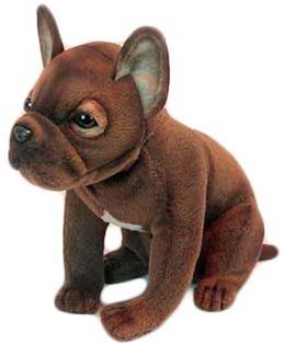 Мягкая игрушка собака Hansa Щенок французского бульдога 20 см коричневый искусственный мех синтепон 6593 мягкая игрушка ежик hansa пустынный ежик 25 см коричневый искусственный мех синтепон 4690