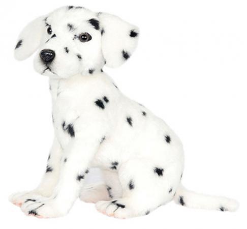 Мягкая игрушка собака Hansa Далматинец сидящий 30 см белый искусственный мех 6809 мягкая игрушка собака фэнси глазастик собачка искусственный мех серый белый sbb0 s