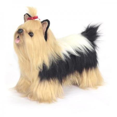 Мягкая игрушка собака Hansa Йоркширский терьер 35 см разноцветный искусственный мех синтепон пластик 6850 мягкая игрушка hansa пиренейская горная собака собака белый искусственный мех синтепон 100 см 6843