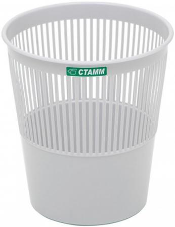 Корзина для бумаг СТАММ КР22 9л серая корзина для бумаг стамм кр52 14 серая