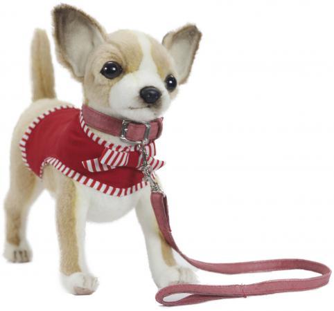 Мягкая игрушка собака Hansa Чихуахуа 27 см белый бежевый синтепон искусственный мех 6383 мягкая игрушка hansa лебедь белый 27 см 4085