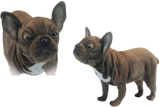 Мягкая игрушка собака Hansa Французский бульдог 50 см коричневый искусственный мех синтепон 6600 мягкая игрушка утенок hansa утенок 20 см желтый искусственный мех синтепон 4857