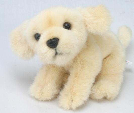 Мягкая игрушка собака Hansa Лабрадор 22 см бежевый искусственный мех 3977 hansa верблюд 22 см hansa