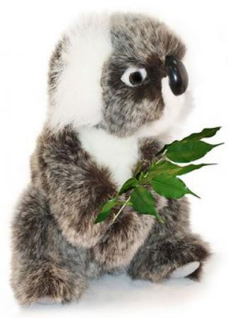 Мягкая игрушка коала Hansa Коала 21 см разноцветный искусственный мех синтепон пластик 2781