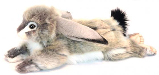 Мягкая игрушка заяц Hansa Заяц вислоухий серый 40 см серый пластик текстиль искусственный мех синтепон 6522 серый вислоухий котнок цена