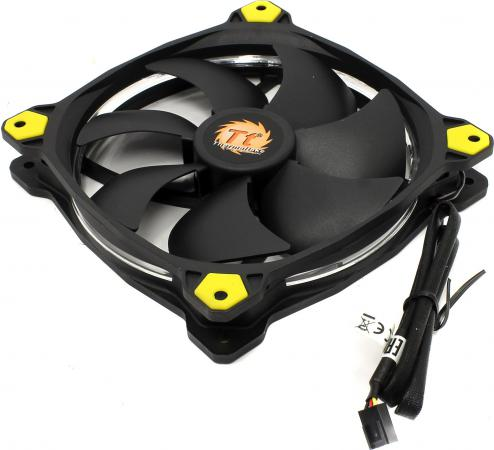 Вентилятор Thermaltake Riing 14 140x140x25 3pin 22.1-28.1dB Yellow + LNC CL-F039-PL14YL-A